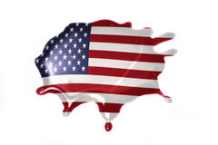 Blot with national flag of united states of america Stock Images