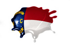 Blot with north carolina state flag Stock Photos