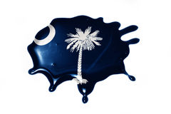 Blot with south carolina state flag Royalty Free Stock Image
