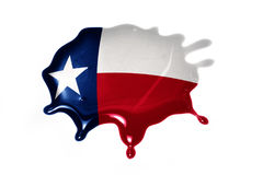 Blot with texas state flag. On the white background.3D illustration royalty free stock photos