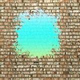 Blot of turquoise paint Stock Images