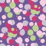 Blot ultra violet seamless pattern. Vector illustration Royalty Free Stock Photos