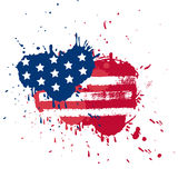 Blot in USA flag colors Stock Images