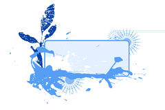 Blot vignette winter. A text blank with blob and snowflakes Royalty Free Stock Photography