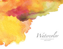 Blot watercolor painted background. Royalty Free Stock Photo