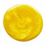 Blot of yellow nail polish Stock Photography