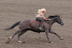 Blote ruiter bij een Canadese rodeo Stock Afbeeldingen