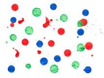 blots красный цвет голубого зеленого цвета Стоковая Фотография
