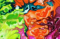 blots цветастое абстрактная предпосылка Акриловые цвета Стоковое фото RF