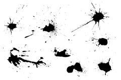 Blots_2. A group of ink blots Royalty Free Stock Image