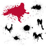 Blots 4. A set of grungy blots for design Royalty Free Stock Images