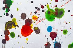 Watercolor blots on paper illustration photo jpg. Blots abstract, background, board, colorful, decor, decorative, design, elegant, fabric, geometric royalty free stock images