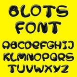 Blots alphabet Stock Images