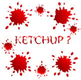 Blots And Spots Ketchup Or Blood Royalty Free Stock Image