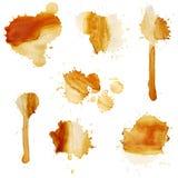 Blots of coffee vector illustration
