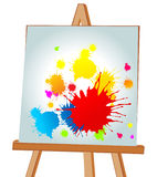 Blots on an easel. Multi-coloured blots on an easel. A  illustration Royalty Free Stock Image