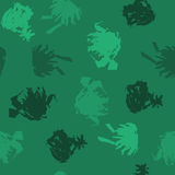 Blots in Green Shades on Dark Green Background. Vector Illustration EPS10 Stock Photos