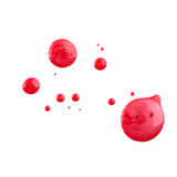 Blots of nail polish Stock Images