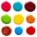 Blots of nail polish Stock Photo