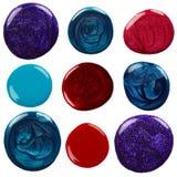 Blots of nail polish Stock Image