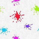 Blots on paper sheet Royalty Free Stock Image