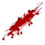 Blots of red nail polish Stock Photo