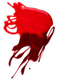 Blots of red nail polish Stock Photos