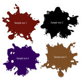 A set of colored blots as a background for text creation Stock Image