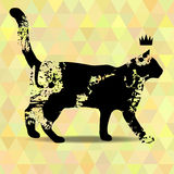 Blots silhouette of a cat. Stock Image