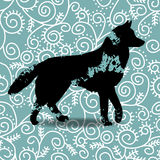 Blots silhouette of a dog. Stock Photos