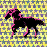 Blots silhouette of dog. Royalty Free Stock Photos