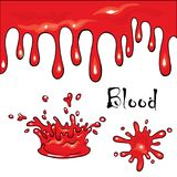 Blots and smudges of jam, slime paint. Elements for design. Vector illustration.  stock illustration