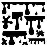 Blots, splashes and smudges. Vector silhouettes set of blots, splashes and smudges Stock Image