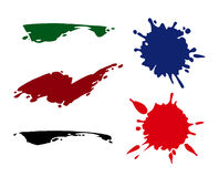 Blots and strokes Royalty Free Stock Image