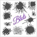 Blots. Vector set Stock Photos
