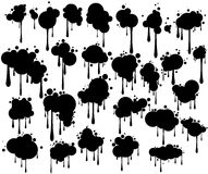 Blots on a wall a. Blots symbols, signs for background registration Royalty Free Stock Photos