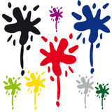 Blots on white background Royalty Free Stock Photography