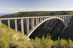 Bloukrans Bridge. In South Africa - Site of the highest bungee jump in the world Royalty Free Stock Image