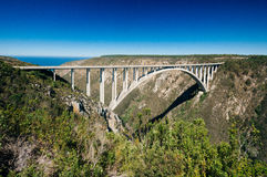 Bloukrans Bridge, Bloukrans, Eastern Cape Province, South Africa. Bloukrans bridge was completed in1984, and is now the world`s highest commercially operated Stock Image