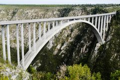 Bloukrans Bridge, South Africa stock images