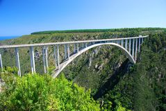 Bloukrans Bridge, South Africa. The Bloukrans Bridge is an arch bridge located near Nature's Valley, Western Cape, South Africa Stock Photography