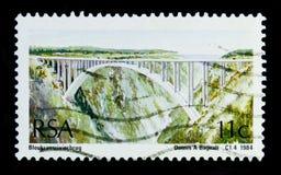 Bloukrans flodbro, broserie, circa 1984 Fotografering för Bildbyråer