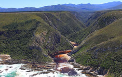 Bloukrans river mouth Royalty Free Stock Photo
