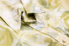 Blouse. Silk blouse, collar and button Stock Photography
