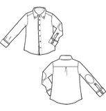 Blouse. Sketch of a men's blouse Royalty Free Stock Photo