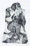 Blouse met gedrukt schilderen Stock Afbeeldingen