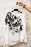 Blouse with painting printed Stock Image
