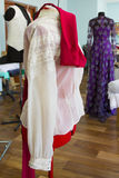 Blouse on red mannequin Royalty Free Stock Photos