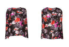 Blouse with roses Isolated on white Stock Photography