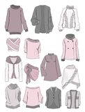 Blouses, sweaters and bolero Stock Photography